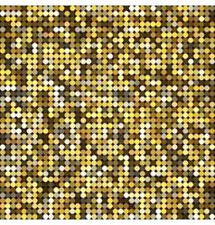 golden abstract retro vintage pixel mosaic vector image