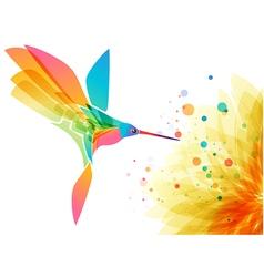 Hummingbird and flower vector image