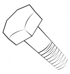 screw symbol vector image vector image