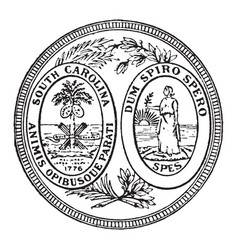 the great seal of the state of south carolina vector image vector image