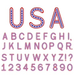 usa symbol alphabet letters isolated vector image