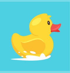 yellow rubber duck vector image
