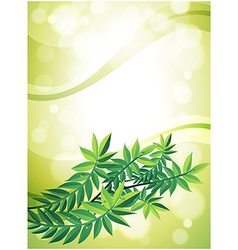 A green stationery with leafy plant vector image vector image