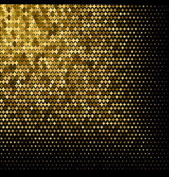 abstract goldet halftone geometric background vector image vector image