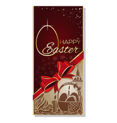easter greeting card with greeting inscription - vector image