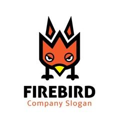 Fire bird design vector