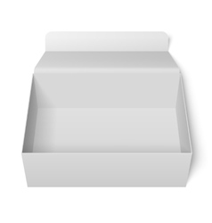 Opened White Box vector image