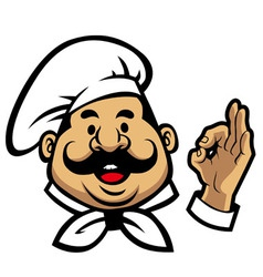 smiling chef face vector image vector image
