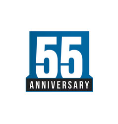 55th anniversary icon birthday logo vector image