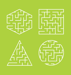 a set of labyrinths for children a square a vector image