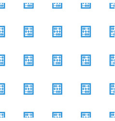 Abacus icon pattern seamless white background vector