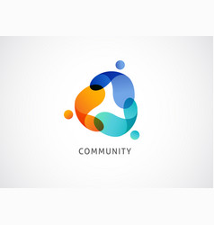 Abstract people symbol togetherness and community vector