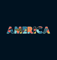 America concept word art vector