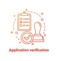 Application verification concept icon vector