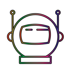 Astronout perfect icon or pigtogram in filled vector
