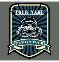Biker or Motor racing club emblem vector