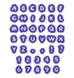 blue abc water alphabet in blot vector image