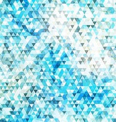 Blue triangle seamless texture with grunge effect vector