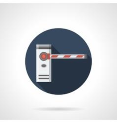 Borderline barrier round flat icon vector