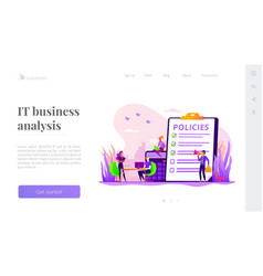 Business rule landing page template vector