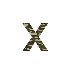camouflage logo letter x vector image