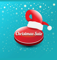 christmas sales paper banner or tag label vector image