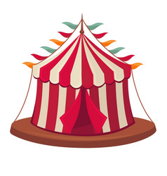 circus tent isolated flat icon vector image