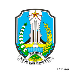 Coat arms east java is a indonesian region vector