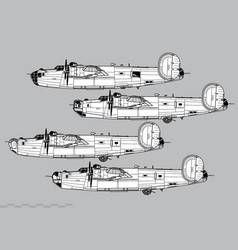 consolidated b-24 liberator vector image