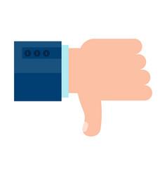 dislike man hand vector image