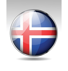 Flag button design elements vector image