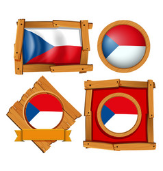 Flag of chile on different frames vector
