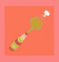 flat shading style icon bottle champagne vector image