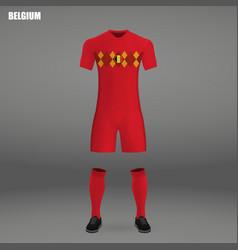 Football kit of belgium 2018 vector