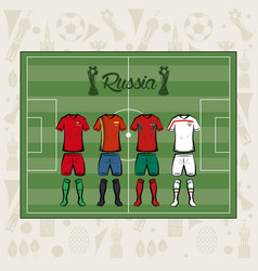 football sport wear russia 2018 vector image
