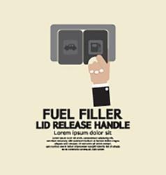 Fuel Filler Lid Release Handle vector image