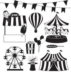 Fun Fair and Circus Collection vector image