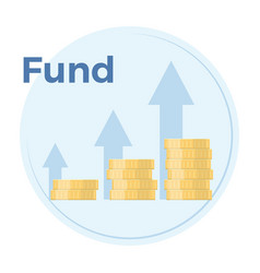 Fundraising flat income vector