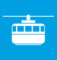 funicular icon white vector image