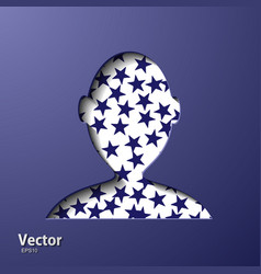 Graphic man in business suit as user icon vector