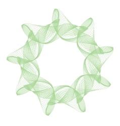Green abstract mandala vector