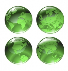 green globe icons vector image