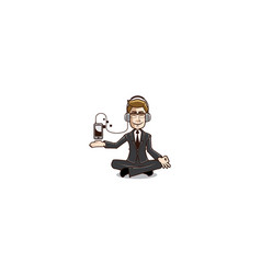 Guru businessman logo icon vector