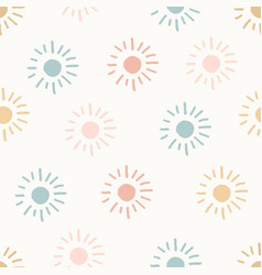 Hand drawn modern doodle seamless pattern pastel vector