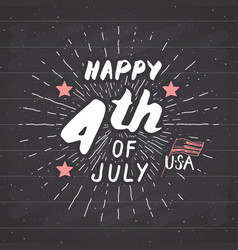 Happy independence day fourth of july vintage usa vector