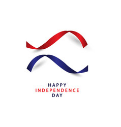 happy independence day template design vector image