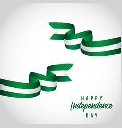 Happy nigeria independent day template design vector