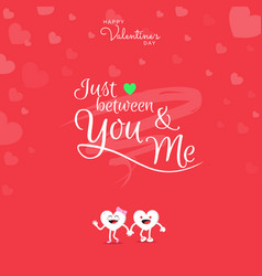 happy valentines day with handwriting just vector image