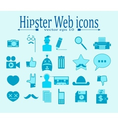Hipster media icons vector
