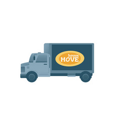house relocation van truck flat vector image